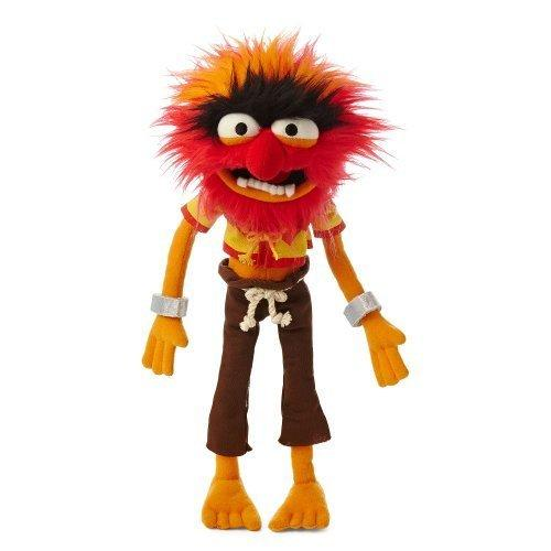 "Official Disney The Muppets Animal Plush Soft Toy - 14"" (Band Drummer Pink Hair) by Disney"