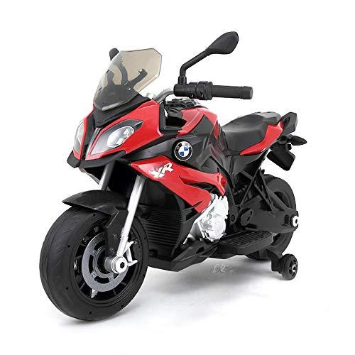 Official Licensed BMW S1000 XR Electric Ride-On Motorbike for Kids with Working Headlights, MP3 Player, Sound Effects and 12V Rechargeable Battery (red)