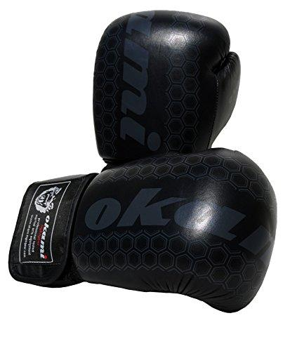 Okami-Fightgear Unisex Adult Elite Boxing Glove Black Edtion Boxing Glove - 14oz