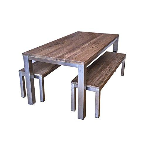 Ombak Furniture Koeta industrial dining table benches, 260 x 100 x 78