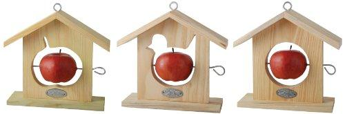 One Wooden Bird Apple Feeder
