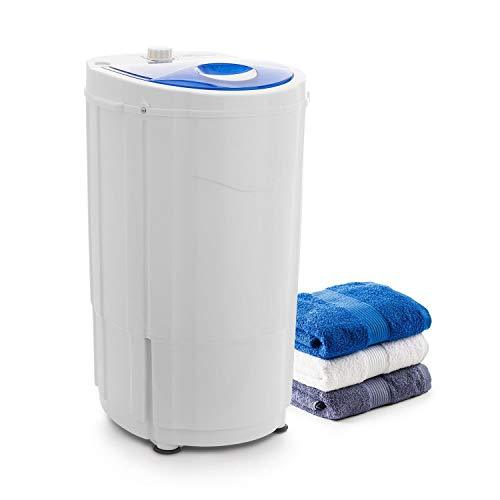 oneConcept Top Spin Compact Spin Dryer • Camping Spin Dryer • Gentle Pre-Drying • 1.5 kg Capacity • Space Saving • 45 Watts Power • Timer Function • Energy-Saving • Smooth Running • White-Blue