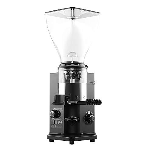 OOFAYWFD Coffee grinder, 250W electric stainless steel disc grinder with display 1.5KG capacity 44 gear adjustment,Black