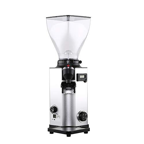 OOFAYWFD Electric coffee grinder, 350W high power 44 scale scale adjustable household commercial