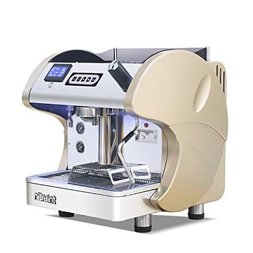 OOFAYWFD Espresso machine, 2.6KW high power semi-automatic single-head LCD display coffee machine tea shop pump steam-type one machine,champagnecolor