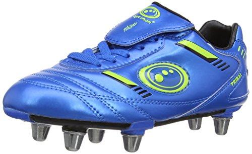 Optimum Boys Tribal Rugby Boots RBTBGJ2 Blue/Neon Green 2 UK, 35 EU