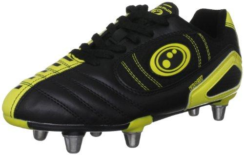 Optimum Boy's Velocity Rugby Boot - Black/Yellow, 6 UK