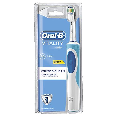 Oral-B Electric Toothbrush Vitality White & Clean Rotating Oscillating - White/Blue