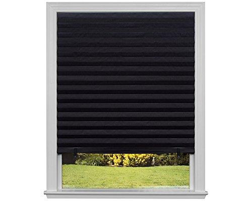 "Original Blackout Pleated Paper Shade Black, 48"" x 72"", 6-Pack"