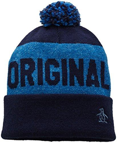 Original Penguin Men's Pom Knit Watchcap, Dark Sapphire, One Size