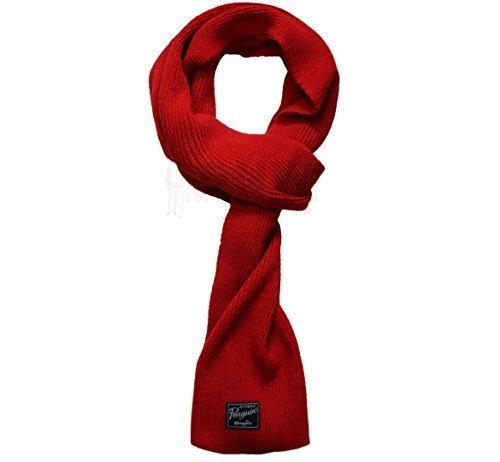 ORIGINAL PENGUIN UNISEX CABLE KNITTED SCARF BLACK, GREEN, PURPLE, RED (Red)