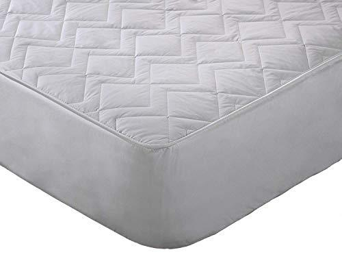 Original Sleep Company Australian Wool Filled Quilted Mattress Protector with 38cm Deep Skirt - Single
