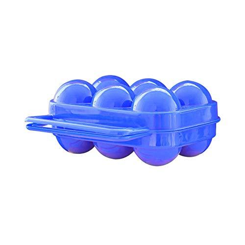 osmanthusFrag Portable 6 Grids Outdoor Travel Picnic Folding Egg Storage Case Box Holder Container Blue