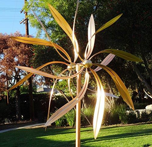 ... Outdoor Artistic Copper Wind Sculptures: Handmade Large Kinetic Wind  Spinners For House Lawn Garden Decorations ...