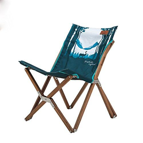 Outdoor folding camping chair, Recliners Lounge chair Portable Barbecue Beach chair Fishing chair Patio-B W46xH68cm(18x27inch)