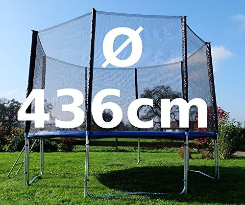 Outdoor garden trampoline trampoline XL -. 314 cm complete including safety net and ladder TÜV checked by AS-S, Size:436cm