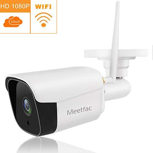 Outdoor Home Security Camera, HD 1080P Wireless WiFi Security Monitor, Surveillance IP Camera with Night Vision/Waterproof/Motion Detection Alarm/Recording, Support SD Card and Cloud Service