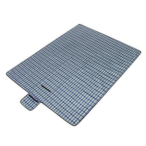 Outdoor Portable Picnic Blanket Mat Thickening Tartan Carpet With Waterproof Backing Folding Beach Rug for Garden Lawn Camping Hiking Travelling 200 * 150cm (Color : B)