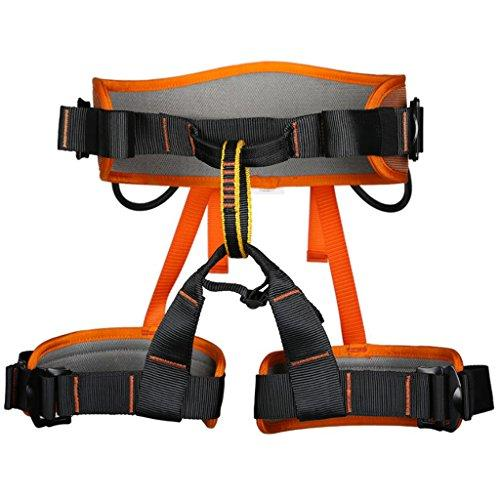Outdoor Safety Harness Seat Sitting Bust Belt Equipment for Tree Surgeon Arborist Rock Climbing - 4 Colors - Orange