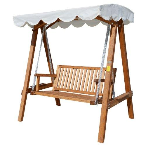 Wondrous Outsunny 2 Seater Wooden Wood Garden Swing Chair Seat Hammock Bench Furniture Lounger Bed Wood New Cream Camellatalisay Diy Chair Ideas Camellatalisaycom