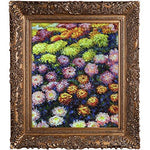 overstockArt Bed of Chrysanthemums by Monet with Burgeon Frame, Gold