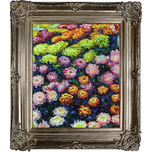 overstockArt Bed of Chrysanthemums by Monet with Renaissance Champagne Frame