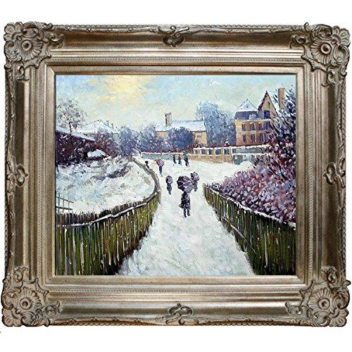 overstockArt Boulevard Saint-Denis Argenteuil in Winter by Monet with Renaissance Champagne Frame and Dark Champagne Finish Artwork