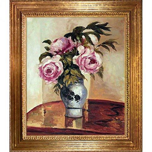 overstockArt Bouquet of Pink Peonies by Pissarro Artwork, Vienna Wood Frame