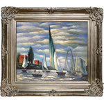 overstockArt Regates at Argenteuil by Monet with Renaissance Champagne Frame