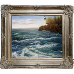 overstockArt Sauls High Winds at The Point with Renaissance Champagne Frame