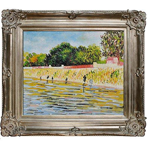 overstockArt The Banks of The Seine May Painting, June with Renaissance Champagne Frame