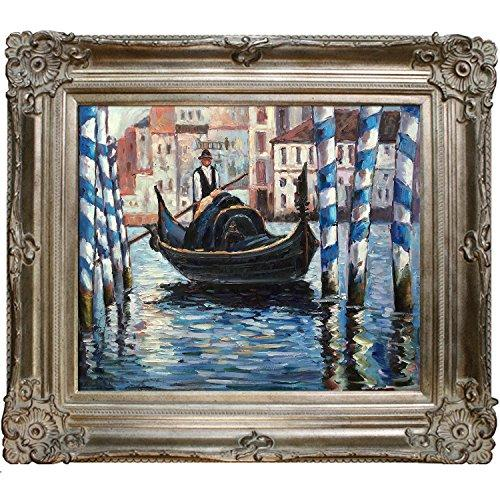 overstockArt The Grand Canal Venice II by Manet with Renaissance Champagne Frame