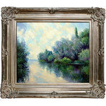 overstockArt The Seine near Giverny by Monet with Renaissance Champagne Frame