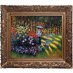overstockArt Woman with A Parasol in The Garden, Argenteuil by Monet with Burgeon Frame Organic Gold Finish Artwork