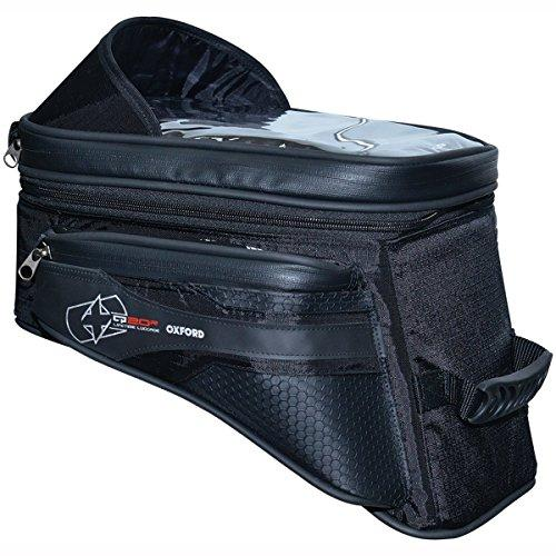Oxford S20R Adventure Motorcycle Quick Release Tank Bag 20 Litres - Black