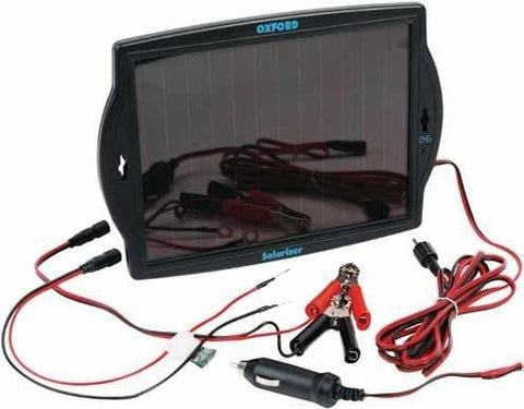 Oxford Solariser Solar Battery Charger - Ideal For Motorcycles - Quads - Jet Ski - Motor Bikes Etc