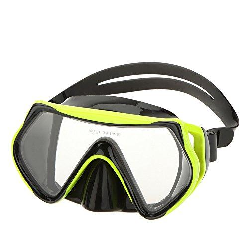 OxGrow(TM)Adult Anti-fog Diving Equipment Adjustable Swimming Goggles Mask Glasses