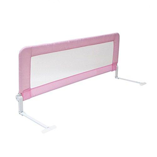Oypla 150cm Pink Baby Child Toddler Bed Rail Safety Protection Guard