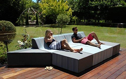 Pahoa Fabric Outdoor Garden Furniture Sunbrella Sofa Set