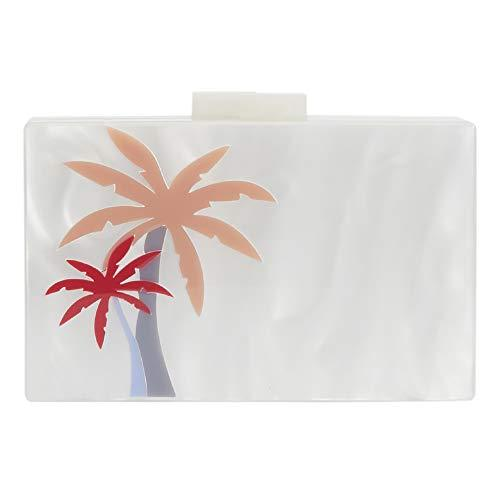 Parfois - Palm Tree Party Clutch - Women - Size M - White