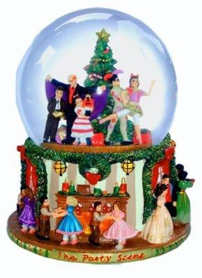 "Party Scene Musical Snow Globe Plays""The Nutcracker Suite March"" by Tchaikovsky"