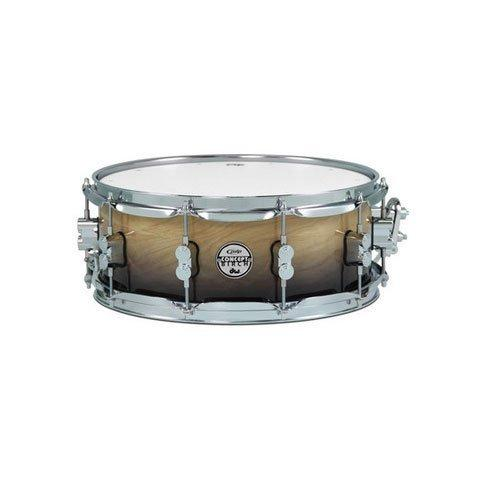 "PDP 5.5"" x 14"" Concept Birch Snare Drum in Natural to Charcoal Fade"