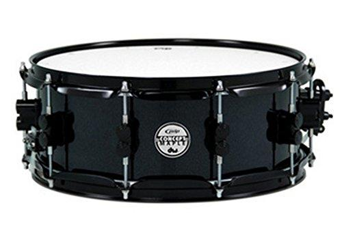 "PDP 5.5"" x 14"" Concept Maple Snare Drum in Pearlescent Black with Black Hardware"