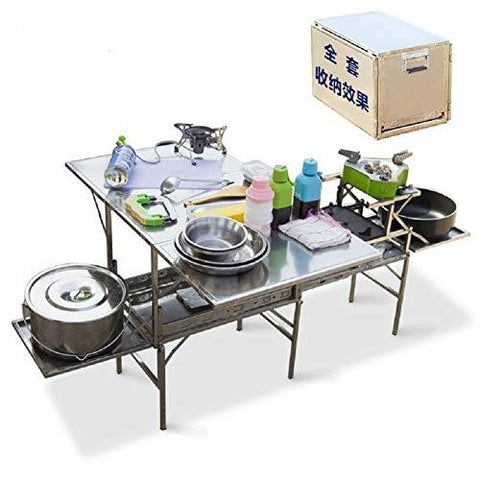 Peng Fang Mobile kitchen outdoor stove portable folding table, 4 combination mode for picnic leisure camping