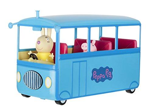 Peppa Pig Peppa's Bus 92637 with Properly Rolling Wheels and Sounds as Well as Exclusive Peppa and Mrs Mümmel Toy Figures, Ideal Toy for Children Aged 3 and Above