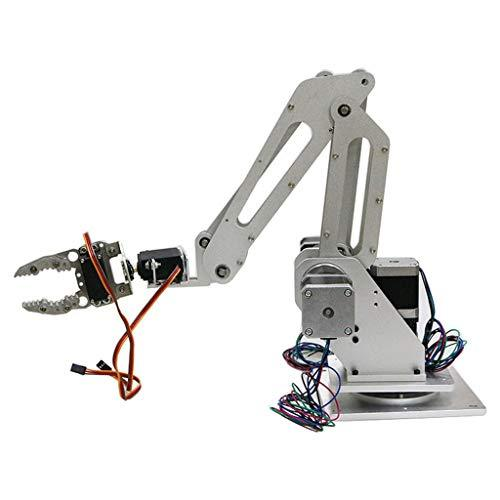 perfk 3 DOF Aluminium Alloy Robot Arm Kit with Gripper Motor Servo For 3D Printer