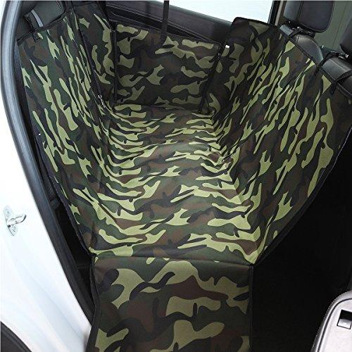 PETCUTE Luxury Dog Car Seat Cover Pets Hammock Cover Cat Waterproof Durable Backseat Double Cover with Side Flaps Camouflage