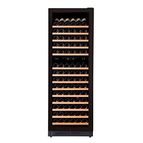 Pevino EVO wine cabinet - Store up to 210 bottles in two zones - Dual zone wine fridge with black front and UV-filtered glass door