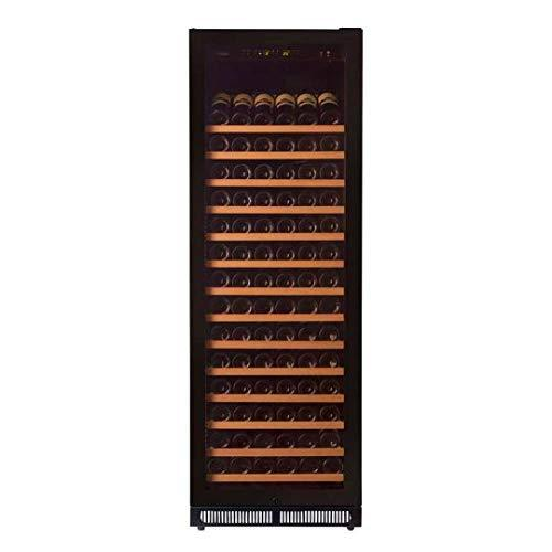 Pevino EVO wine fridge - Store up to 220 bottles in one zone - Single zone wine cooler with black front and UV-filtered glass door
