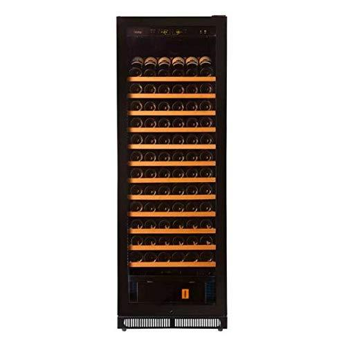 Pevino EVO wine fridge with humidity control - Store up to 203 bottles in one zone - Single zone wine cabinet with black front and UV-filtered glass door
